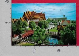 CARTOLINA VG THAILANDIA - BANGKOK - Marble Temple - 9 X 14 - ANN. 1973 - Tailandia