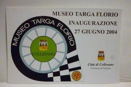MUSEO TARGA FLORIO COLLESANO ANNULLO AFFRANCATURA VARZI NON VIAGGIATA RRR - Inaugurazioni