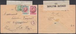Belgique 1917 ( 05/09/17 ) - COB 132+133+137 Sur Lettre Censure Poste Militaire Nº4 (BE) DC1353 - 1914-1915 Croix-Rouge