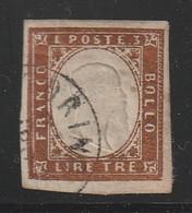 ITALIE / SARDAIGNE - N°15 Obl  (1855-61)  Victor-Emmanuel II - Sardaigne