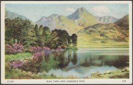 Blea Tarn And Langdale Pikes, Westmorland, C.1930s - Chadwick Postcard - Cumberland/ Westmorland