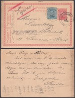"""Belgique 1920 (24/II/20) EP 10C + COB141 En Express Griffe """" REMIS A LA POSTE TAXE INSUFFISANTE """" (BE) DC1354 - Entiers Postaux"""