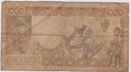 Billet  Banque Centrale Des Etats De L'afrique De L'ouest  Valeur 1000 Francs - Autres - Afrique