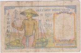 Billet  Banque De L'indochine Valeur 1 - Indochine