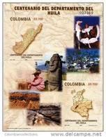 Lote 19l, Colombia, 2005,  Departamento De Huila, HF, SS, Maps - Colombia
