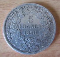 France - Monnaie 5 Francs Cérès 1850 A - Argent - Etat SUP - France