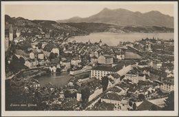 Luzern Vom Gütsch, 1930 - Guggenheim Foto-AK - LU Lucerne