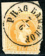 "Nr. 35 I Vollstampel ""PRAG BAHNHOF"" Briefstück - 1850-1918 Imperium"
