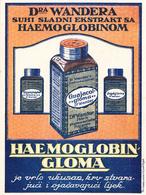 MEDICINE PHARMACY - HAEMOGLOBIN GLOMA  1920 - Pubblicitari
