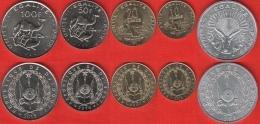 Djibouti Set Of 5 Coins: 5 - 100 Francs 1991-2013 UNC - Djibouti