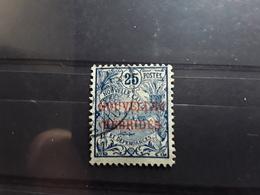 NEW NOUVELLES HEBRIDES, 1908, Type Cagou Surchargé,  Yvert No 3,  25 C Bleu / Verdâtre  Obl TB - Oblitérés