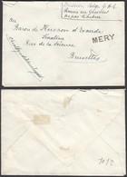 "Belgique 1919 - Lettre En Franchise Mission Belge "" MERY"" Fortune (BE) DC1359 - Belgium"