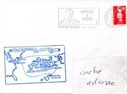 PR DURANCE Mission En Atlantique Obl. Paris Naval 11/07/97 - Marcophilie (Lettres)