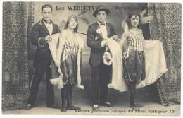 Cpa Spectacle, Les Weberty - Acrobates Mondains, Femme Porteuse - Artistes