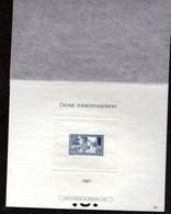 N° 252 LE TRAVAIL En EPREUVE DE LUXE AVEC RABAT. COTE 700€ - Caisse D'Amortissement