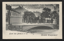 Bridge On Austro-Hungarian Border, During The Austro-Hungarian Monarchy - VINTAGE POSTCARD (APAT#44) - Autres
