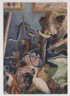 5370 Russian Illustrator Efimov Fable Of Mikhalkov Elephant Painter - Animali Abbigliati