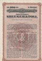SUEDE-KREUGER & TOLL Cy. 1928.Particip Debenture 500 KR - Other