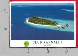 CARTOLINA VG MALDIVE - Club Rannalhi - 12 X 17 - ANN. 1999 - Maldive