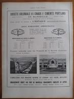 1926 - Construction Palais à Grenoble -Ste Coloniale Chaux & Ciments L'Estaque- Page Originale ARCHITECTURE INDUSTRIELLE - Architecture