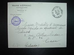 LETTRE MAIRIE D'EPINIAC OBL.29-10 1963 DOL DE BRETAGNE ENTREPOT I. ET V. (35) - Marcophilie (Lettres)