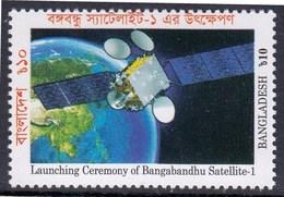 Bangladesh Space Launching Ceremony Of Bangabandhu Satellite I 1v MNH - Space