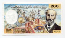 """Très Beau Spécimen De Billet De 200 Francs """"Jules Verne"""" Editions François Beauval - Années 80 - Fictifs & Spécimens"""