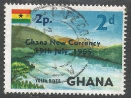 Ghana. 1965 New Currency O/P. 2p On 2d Used. SG 382 - Ghana (1957-...)