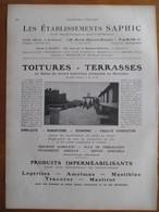 1926 - Société Couverture SAPHIC Usine à GAGNY      - Page Originale ARCHITECTURE INDUSTRIELLE - Architecture