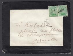 """Belgique 1919 - COB 137 X 2 Sur Lettre Oblitération Fortune """" LIMERLE """" (BE) DC1362 - Belgium"""