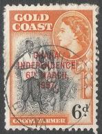 Ghana. 1957-58 Stamps Of Gold Coast O/P. 6d Used. SG 177 - Ghana (1957-...)