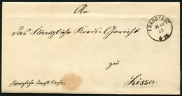 PREUSSEN 1869, NACHVERWENDETER STEMPEL K1 FRAUSTADT SAUBER AUF BRIEF NACH LISSA - Preussen