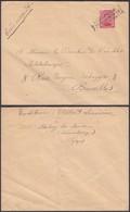 """Belgique 1918 ( 28/12/18 ) COB 138 Sur Lettre Oblitération Fortune """" HABAY-LA-NEUVE """" (BE) DC1364 - Belgique"""