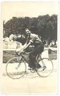 Cpa Carte-photo Jeune Homme Sur Son Vélo De Course   ( CPH ) - Autres