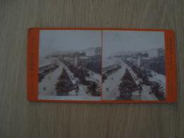 CARTE STEREOSCOPIQUE SANREMO PASSEGGIATA DELL'IMPERATRICE G. BROGI FIRENZE - Stereoscope Cards