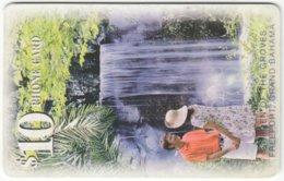 BAHAMAS A-071 Chip Batelco - Landscape, Waterfall - Used - Bahamas