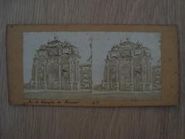 CARTE STEREOSCOPIQUE ARC DE TRIOMPHE DE FLORENCE ITALIE - Stereoscope Cards