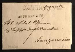 1848 CAMERINO AFFRANCATA PER S. SEVERINO - Italy