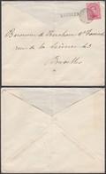 """Belgique 1919 - COB 138 Sur Lettre Oblitération Fortune """" LUBBEEK """" Cachet Rurale (BE) DC1365 - Belgique"""