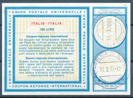 ROMA / Italia  - 1968 , Type Vi18 ,  120 LIRE , Redeemed:  SAN MARINO  - Reply Coupon Reponse, Antwortschein - 1946-.. République