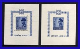 1943 - Croacia - Sc. B 31 - Dentada + No Dentada - MNH - CR- 233 - Croatie