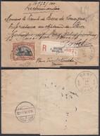Belgique 1919 - COB 142 Sur Lettre Recommandé De Bruxelles Vers Gand (BE) DC1366 - Belgique