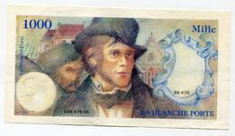 """Billet Publicitaire De 1000 Francs Inspiré De Delacroix """"La Blanche Porte"""" French Bank Note - Fictifs & Spécimens"""
