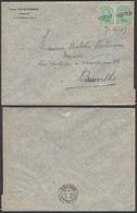 """Belgique 1919 - COB 137x2 Sur Lettre Oblitération Fortune """" HORNU """" (BE) DC1367 - Belgium"""