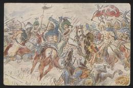 POSTCARD FROM Czechoslovakia,1923.On A Postcard Drawn Battle Of Kosovo 1389.Battle Between Serbians And Turks-(APAT-33) - Ansichtskarten