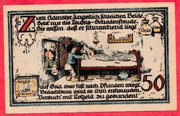 Allemagne 1 Notgeld De 50 Pfenning Stadt Latersleben (RARE) UNC  N °2896 - [ 3] 1918-1933 : République De Weimar