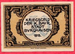 Allemagne 1 Notgeld De 50 Pfenning Stadt Burghausen (RARE) Dans L 'état  N °2898 - [ 3] 1918-1933 : République De Weimar