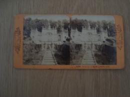 CARTE STEREOSCOPIQUE VILLA DE LA REINE A TURIN VUE D'ITALIE - Cartoline Stereoscopiche