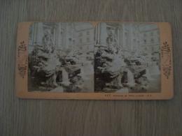 CARTE STEREOSCOPIQUE FONTAINE DE TREVI ROME VUE D'ITALIE - Stereoscope Cards