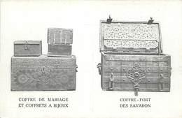 -ref-A975- Architecture - Meubles - Coffres De Mariage - A Bijoux - Coffre Fort Des Savaron - Architecte - Architectes - - Autres